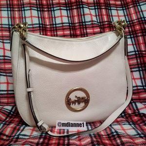 🆕 Coach Pebbled Leather Elle Hobo Handbag